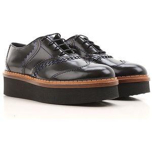 Tod's Genuine Leather Platform Dress shoes black